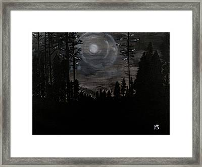 Night Framed Print by Katy  Scott