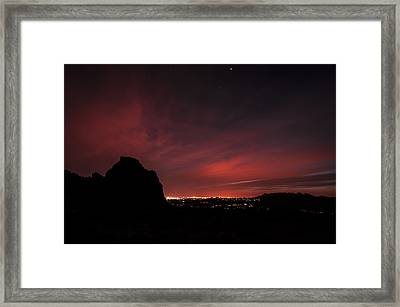 Night Lights Framed Print by Anthony Citro