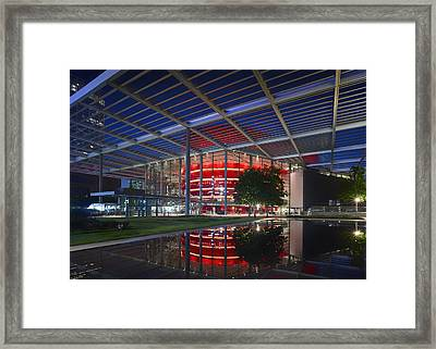 Night Lights Of The Winspear Opera House - Dallas Framed Print by Mountain Dreams