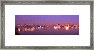 Night Memphis Tn Framed Print by Panoramic Images