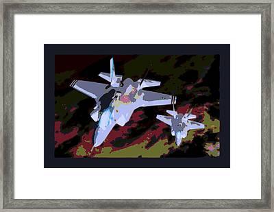 Night Mission At Dusk Lockheed Martin F-35 Lightening II Framed Print by L Brown