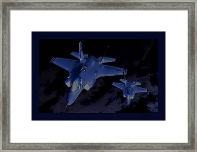 Night Mission Lockheed Martin F-35 Lightening II Framed Print by L Brown