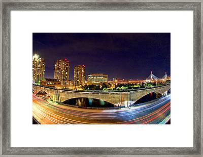 Night Moves 2-boston Framed Print by Joann Vitali