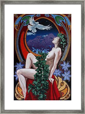 Night Nymph Framed Print by Gary Kroman