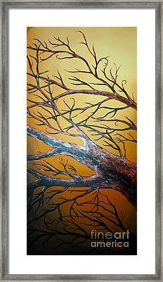 Night Of The Eclipse Panel 3 Framed Print by Teshia Art