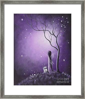 Original Fairy Artwork By Shawna Erback Framed Print by Shawna Erback