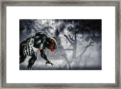 Night Of The Lycan Framed Print by Bob Orsillo