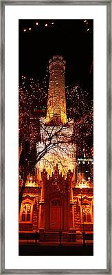 Night, Old Water Tower, Chicago Framed Print by Panoramic Images