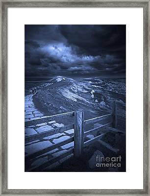 Night On The Great Ridge Framed Print by Darren Burroughs