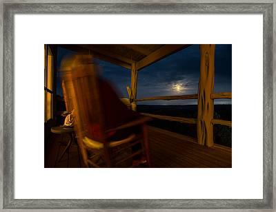 Night On The Porch Framed Print by Darryl Dalton