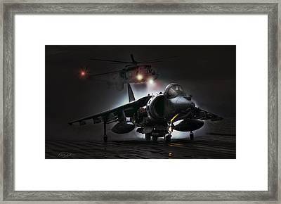 Night Ops Framed Print by Peter Chilelli