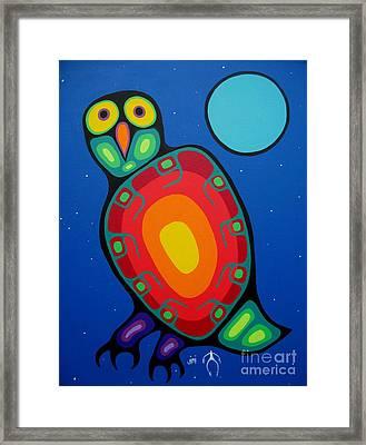 Night Owl Framed Print by Jim Oskineegish
