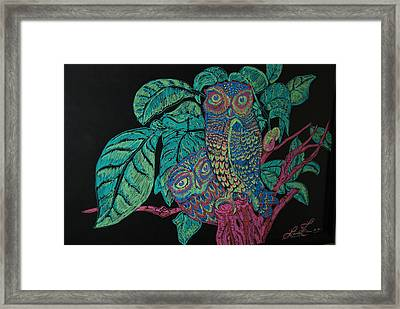 Night Owls Framed Print by Lorinda Fore