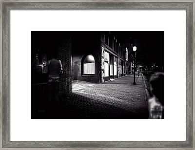 Night People Main Street Framed Print by Bob Orsillo