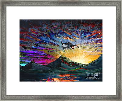 Night Ride Framed Print by Teshia Art