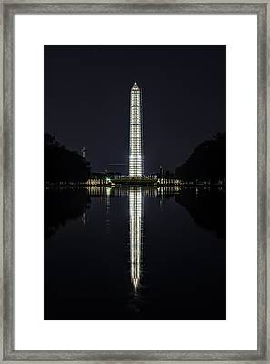 Night Scaffolding Framed Print by Metro DC Photography