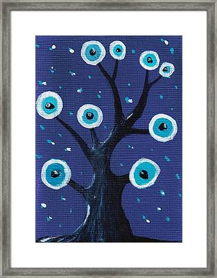 Night Sentry Framed Print by Anastasiya Malakhova