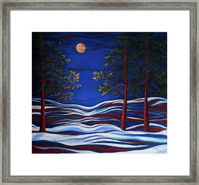 Night Serenity  Framed Print by Kathy Peltomaa Lewis