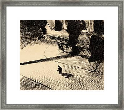 Night Shadows Framed Print by Edward Hopper
