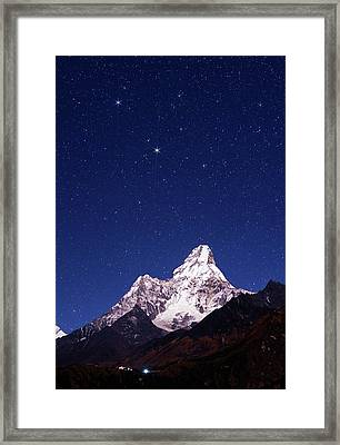 Night Sky Over Mountains Framed Print by Babak Tafreshi