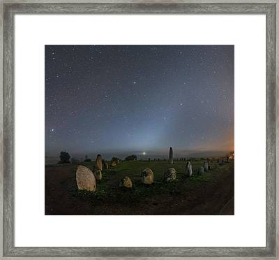 Night Sky Over Stone Circle Framed Print by Babak Tafreshi