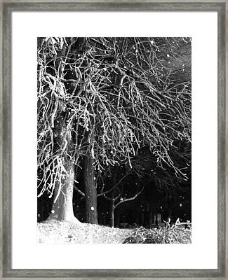 Night Snow Framed Print by Gothicrow Images