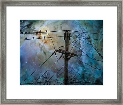 Night Spark Framed Print by Gothicolors Donna Snyder