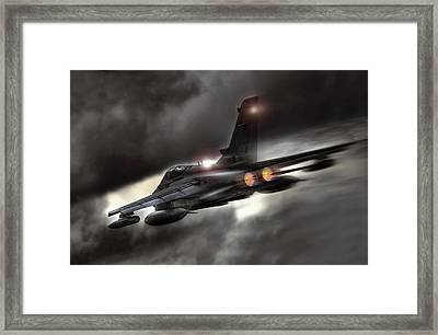 Night Strike Tornado Framed Print by Peter Chilelli