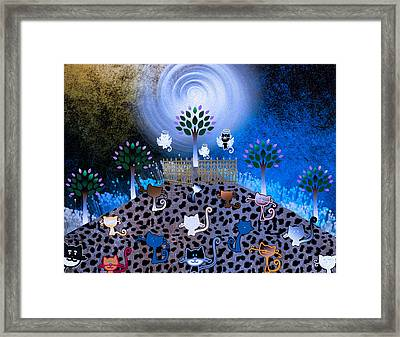 Night Time Catwalk Leading To Heaven Framed Print by Teri Schuster