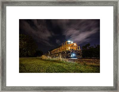 Night Train 3 Framed Print by Aaron J Groen