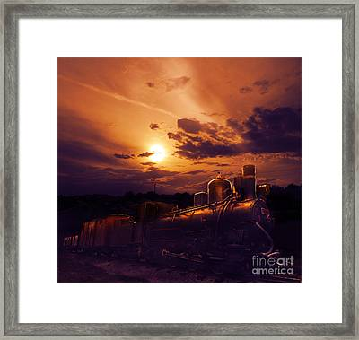 Night Train Framed Print by Jelena Jovanovic
