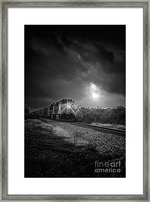 Night Train Framed Print by Robert Frederick
