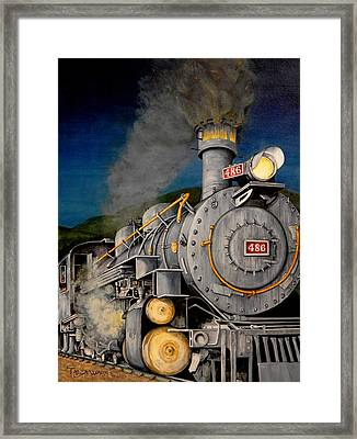 Night Train Framed Print by Tanja Ware