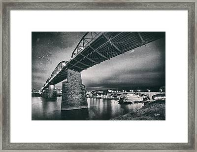 Night Under The Bridge Framed Print by Steven Llorca