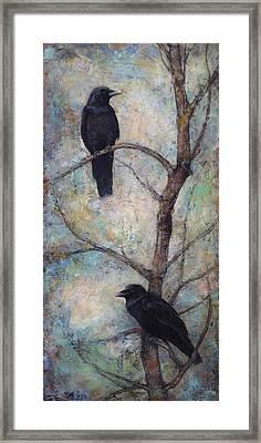 Night Watch -  Ravens Framed Print by Lori  McNee
