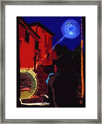 Night Window Legend Framed Print by Yevgeni Kacnelson