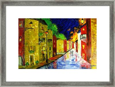 Night With You Framed Print by Mariana Stauffer