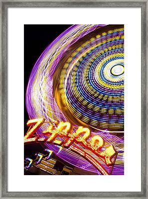 Night Zipper Framed Print by Caitlyn  Grasso