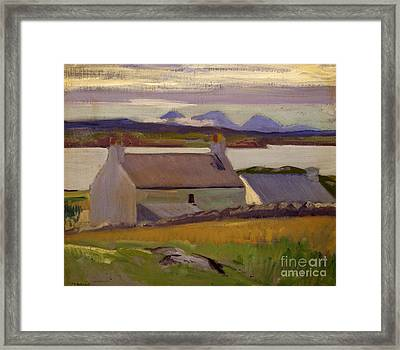 Nightfall  Iona Framed Print by Francis Campbell Boileau Cadell