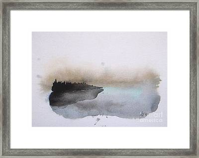 Nightfall On The Lake  Framed Print by Vesna Antic