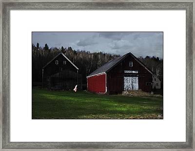 Nightgown On A Line Broadacres Farm Framed Print by Wayne King
