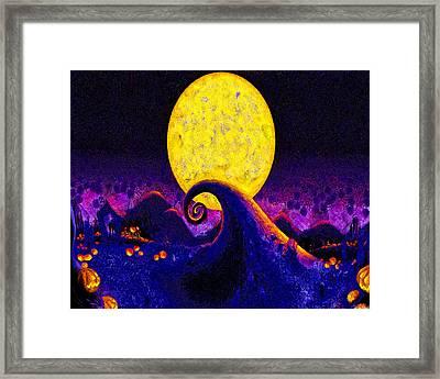Nightmare Before Christmas Framed Print by Joe Misrasi
