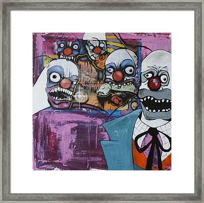 Nightmare Of The Clown Framed Print by Sanne Rosenmay