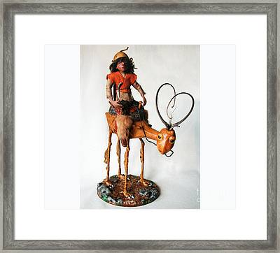Nightrider - Mythical Creatures Framed Print by Linda Apple