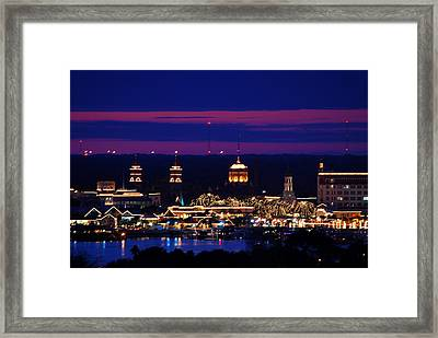 Nights Of Lights St. Augustine Framed Print by Stacey Sather