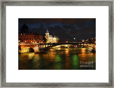 Nighttime Paris Framed Print by Elena Elisseeva