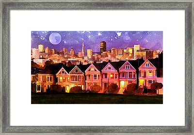 Nighttime Sf          Framed Print by Anthony Caruso