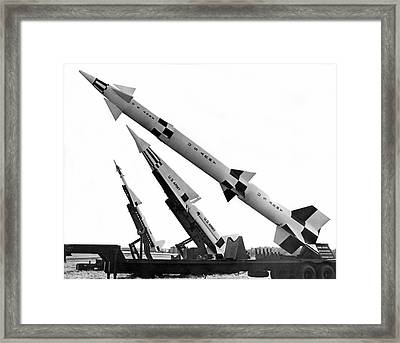 Nike Air Defense Missiles Framed Print by Underwood Archives