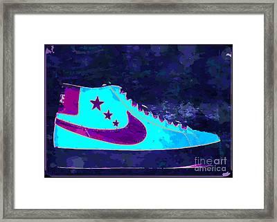 Nike Blazer Framed Print by Alfie Borg