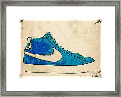 Nike Blazer Turq 2 Framed Print by Alfie Borg
